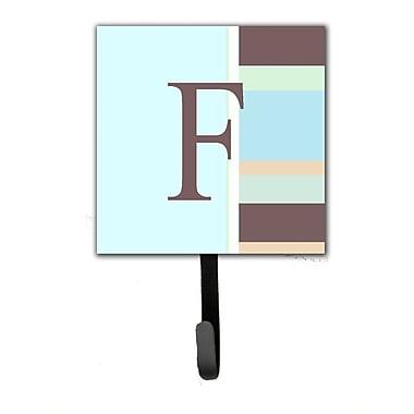 Caroline's Treasures Monogram Stripes Leash Holder and Wall Hook; F