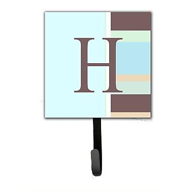 Caroline's Treasures Monogram Stripes Leash Holder and Wall Hook; H