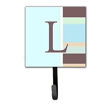 Caroline's Treasures Monogram Stripes Leash Holder and Wall Hook; L