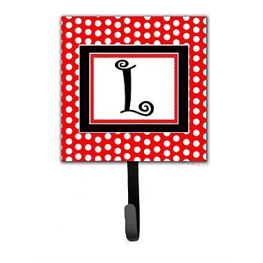 Caroline's Treasures Monogram Polka Dots Wall Hook; L
