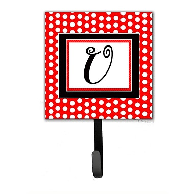 Caroline's Treasures Monogram Polka Dots Wall Hook; U