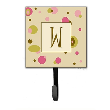 Caroline's Treasures Monogram Dots Leash Holder and Wall Hook; W