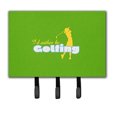 Caroline's Treasures I'D Rather Be Golfing Woman on Green Leash Holder and Key Hook