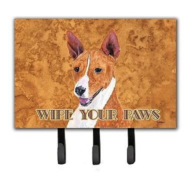 Caroline's Treasures Basenji Wipe Your Paws Leash Holder and Key Hook