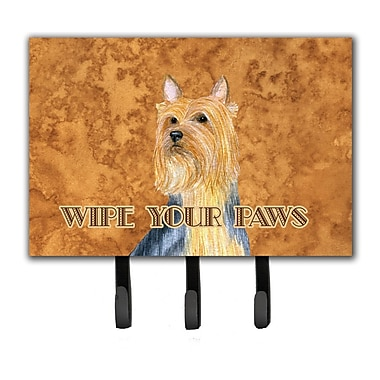 Caroline's Treasures Silky Terrier Wipe Your Paws Leash Holder and Key Hook