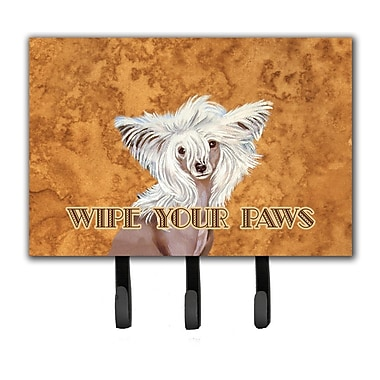 Caroline's Treasures Chinese Crested Wipe Your Paws Leash Holder and Key Hook