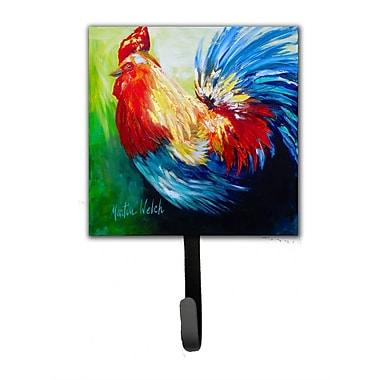 Caroline's Treasures Rooster Chief Big Feathers Leash Holder and Wall Hook