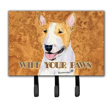 Caroline's Treasures Bull Terrier Wipe Your Paws Leash Holder and Key Holder