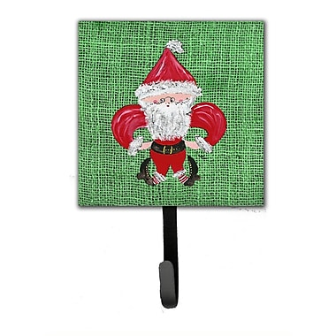 Caroline's Treasures Christmas Santa Fleur De Lis Leash Holder and Wall Hook