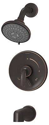 Symmons Elm Pressure Balance Tub and Shower Trim w/ Lever Handle; Seasoned Bronze