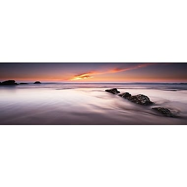 3 Panel Photo Rushing Wave Photographic Print on Wrapped Canvas