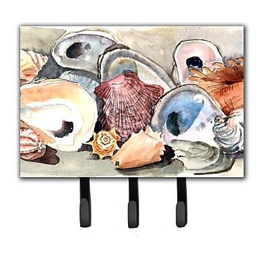 Caroline's Treasures Sea Shells Leash Holder and Key Hook