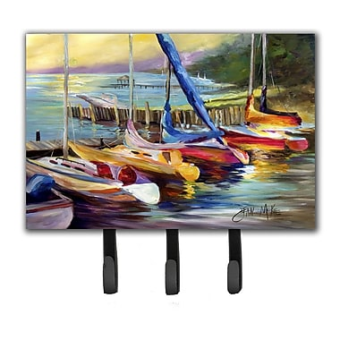Caroline's Treasures Sailboats at Sunset Leash Holder and Key Hook