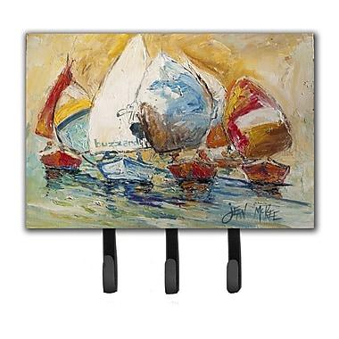 Caroline's Treasures Buzzards Sailboat Race Leash Holder and Key Hook