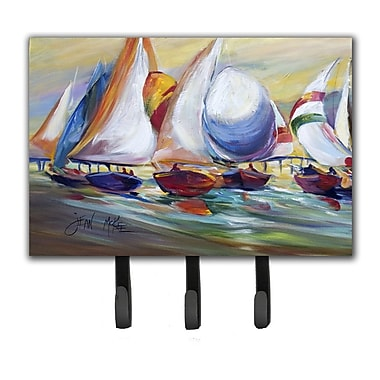 Caroline's Treasures Sailboat Race in Dauphin Island Leash Holder and Key Hook