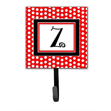 Caroline's Treasures Monogram Polka Dots Wall Hook; Z