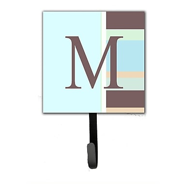 Caroline's Treasures Monogram Stripes Leash Holder and Wall Hook; M