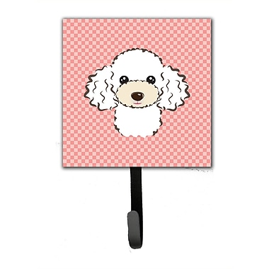 Caroline's Treasures Checkerboard Poodle Leash Holder and Wall Hook