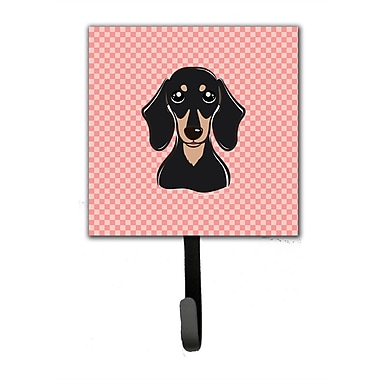 Caroline's Treasures Checkerboard Smooth and Dachshund Leash Holder and Wall Hook
