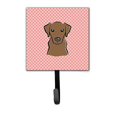 Caroline's Treasures Checkerboard Labrador Leash Holder and Wall Hook