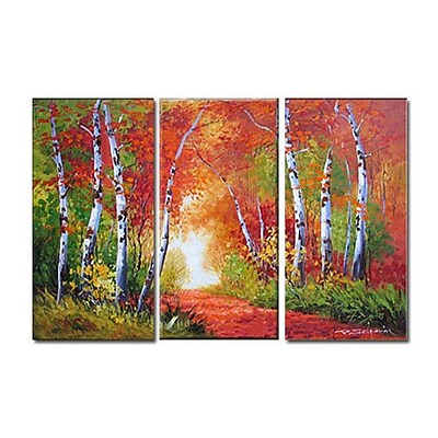3 Panel Photo A Day at The Park 3 Piece Photographic Print on Wrapped Canvas Set