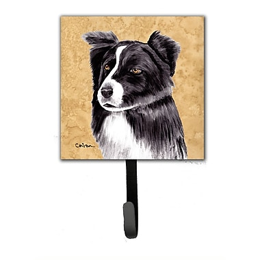 Caroline's Treasures Border Collie Leash Holder and Wall Hook