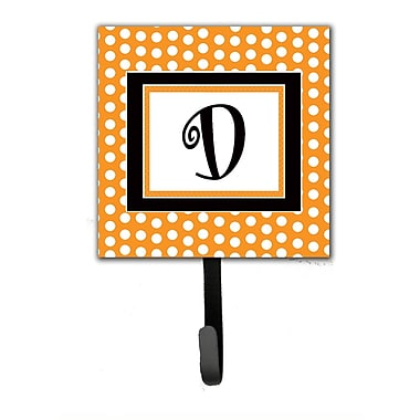 Caroline's Treasures Monogram Polkadots Leash Holder and Wall Hook; D