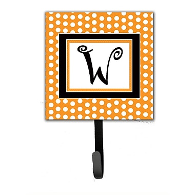 Caroline's Treasures Monogram Polkadots Leash Holder and Wall Hook; W