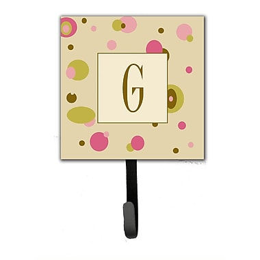 Caroline's Treasures Monogram Dots Leash Holder and Wall Hook; G