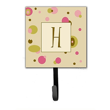 Caroline's Treasures Monogram Dots Leash Holder and Wall Hook; H