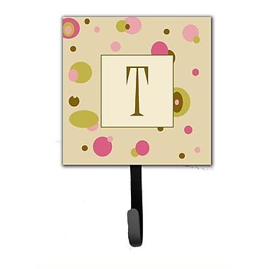 Caroline's Treasures Monogram Dots Leash Holder and Wall Hook; T