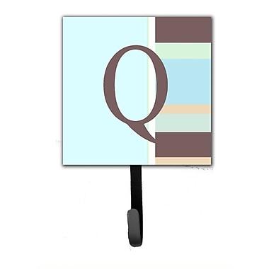 Caroline's Treasures Monogram Stripes Leash Holder and Wall Hook; Q