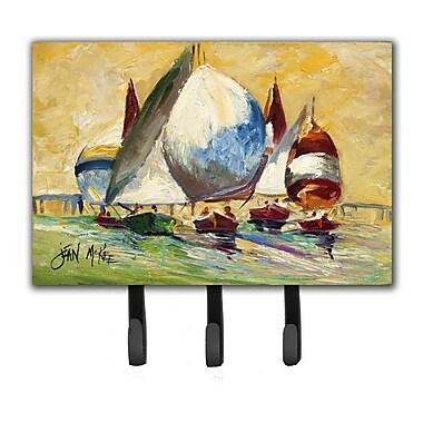 Caroline's Treasures Bimini Sails Sailboat Leash Holder and Key Hook
