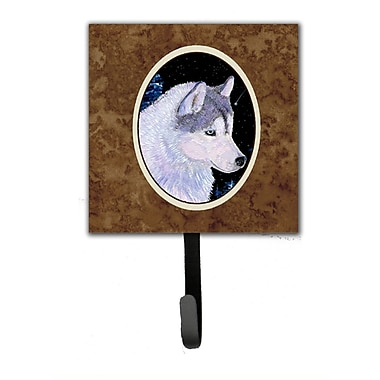 Caroline's Treasures Siberian Husky Leash Holder and Key Hook