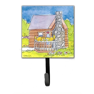 Caroline's Treasures Cat Love at The Log Cabin Leash Holder and Wall Hook