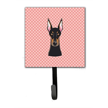 Caroline's Treasures Checkerboard Doberman Leash Holder and Wall Hook