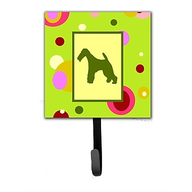 Caroline's Treasures Fox Terrier Leash Holder and Wall Hook