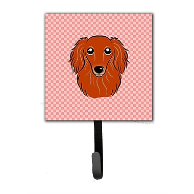Caroline's Treasures Checkerboard Longhair Dachshund Leash Holder and Wall Hook