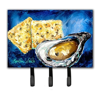 Caroline's Treasures Oysters Two Crackers Leash Holder and Key Hook