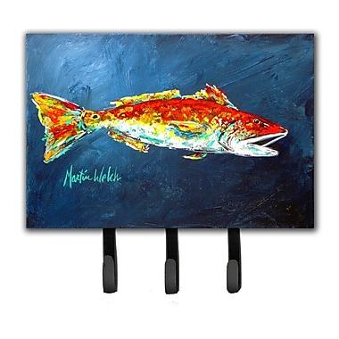 Caroline's Treasures Red Fish For Jarett Leash Holder and Key Hook