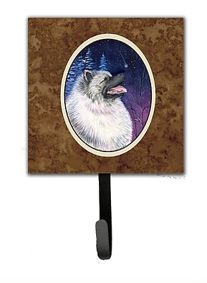 Caroline's Treasures Starry Night Keeshond Leash Holder and Wall Hook