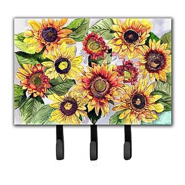 Caroline's Treasures Sunflowers Leash Holder and Key Hook