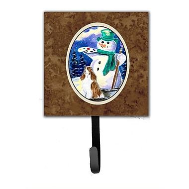 Caroline's Treasures Artist Snowman w/ Springer Spaniel Wall Hook