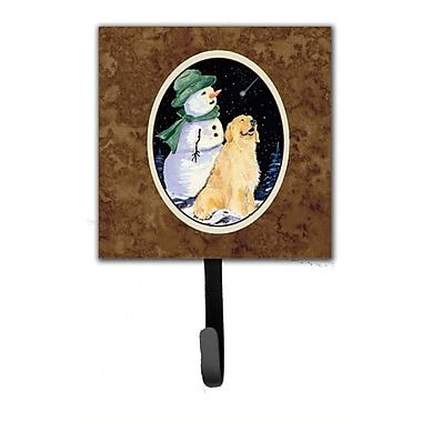 Caroline's Treasures Golden Retriever w/ Snowman in Hat Wall Hook