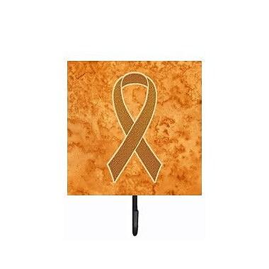 Caroline's Treasures Ribbon For Leukemia Awareness Leash Holder and Wall Hook
