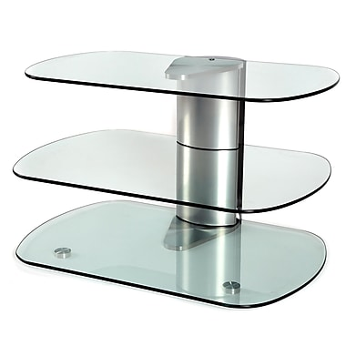 Off The Wall Skyline 30'' TV Stand; Silver