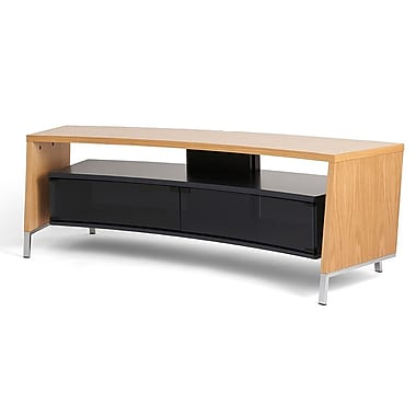 Off The Wall Curve 61'' TV Stand; Oak