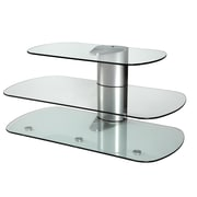 Off The Wall Skyline TV Stand; Silver