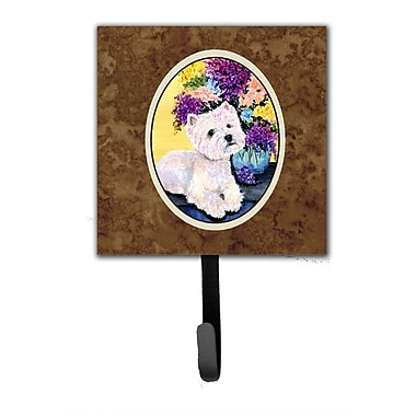 Caroline's Treasures Westie Leash Holder and Key Hook