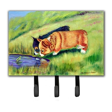 Caroline's Treasures Corgi Leash Holder and Key Hook